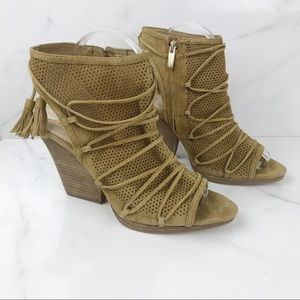 Vince Camuto Javy Leather Booties Sandals 10